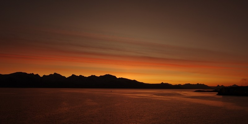 Sonnenuntergangsstimmung in Sortland