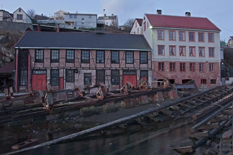 alte Werft in Kristiansund...
