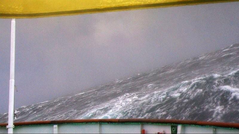 mitten im Sturm auf der Folda
