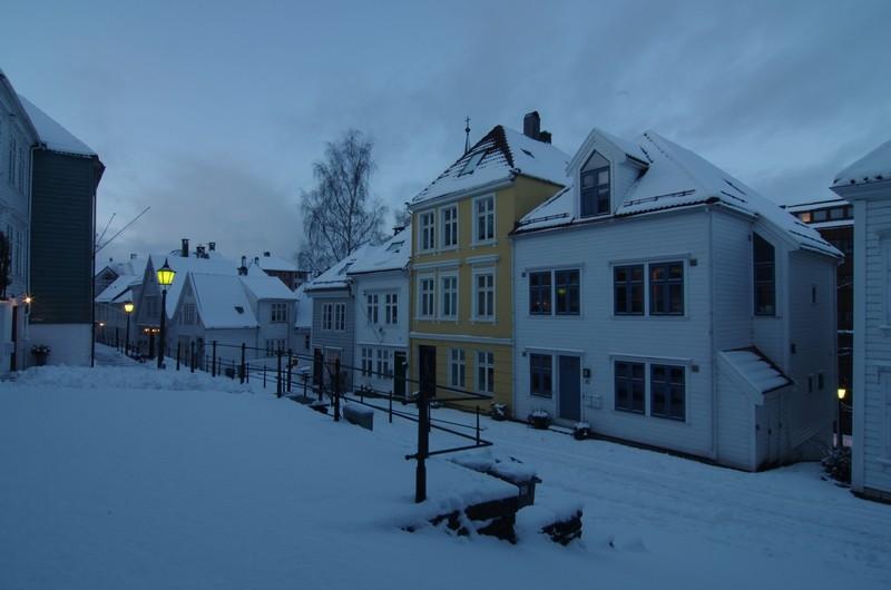 Bergen am späten Nachmittag - Stadtteil Nordnes