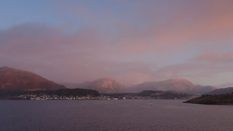Morgenstimmung auf dem Weg nach Bergen