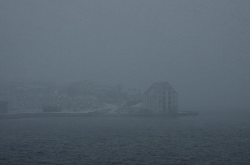 Ålesund am nächsten Morgen, was für ein Wetter...