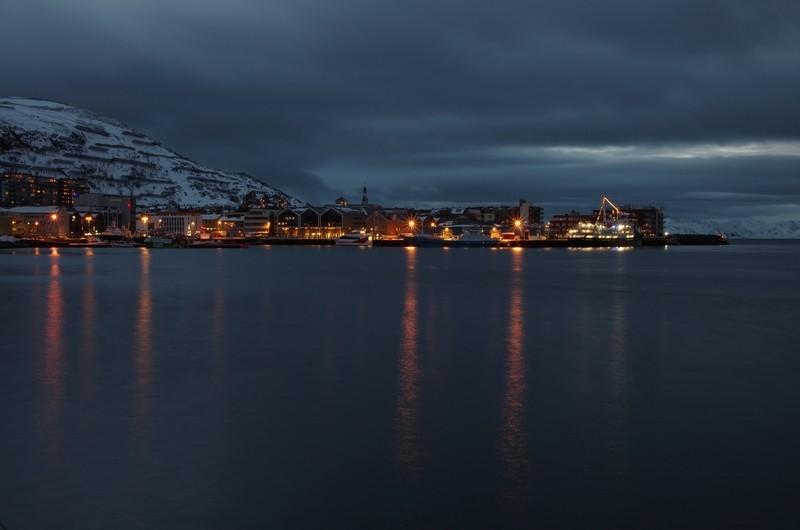 Blick auf den Hafen von Hammerfest