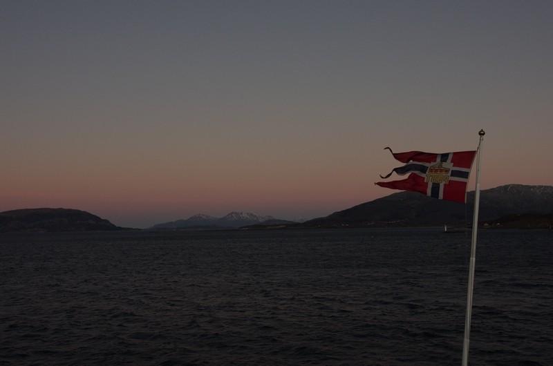Kurz nach dem Auslaufen in Sandesjøen
