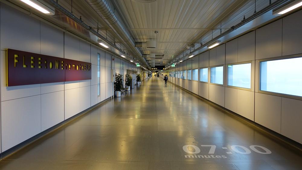 der Weg zum neuen Terminal in Oslo