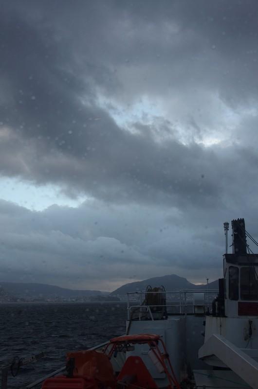 ...und kurz vor Bergen dann das typische Bergenwetter