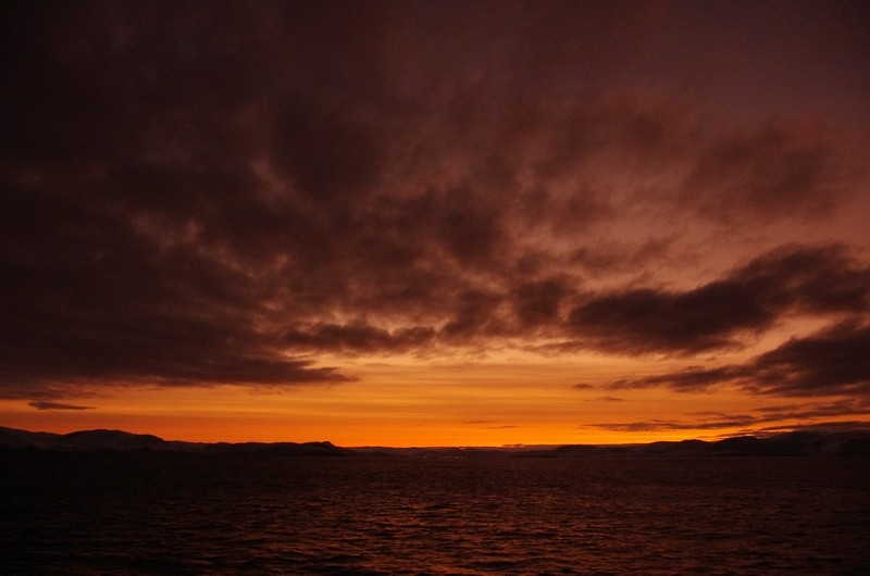 Morgenröte kurz vor Hammerfest