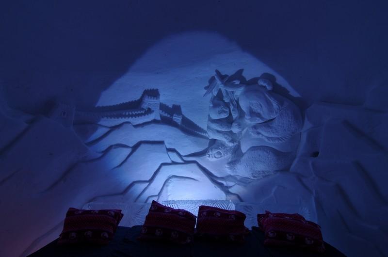 im Eishotel in Kirkenes