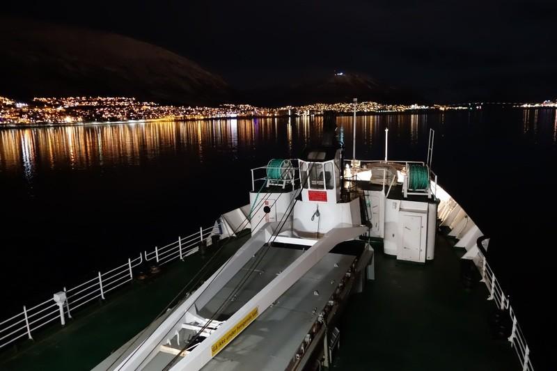 Tromsø kurz vor der Einfahrt in den Hafen