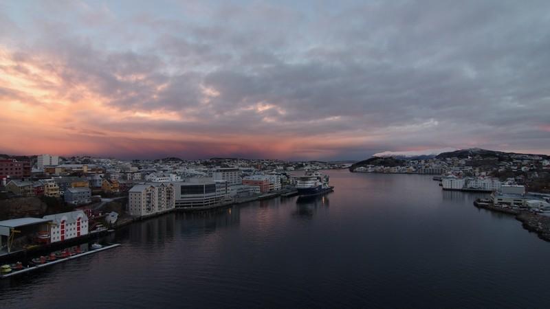 am Morgen des 25. Dez, in Kristiansund