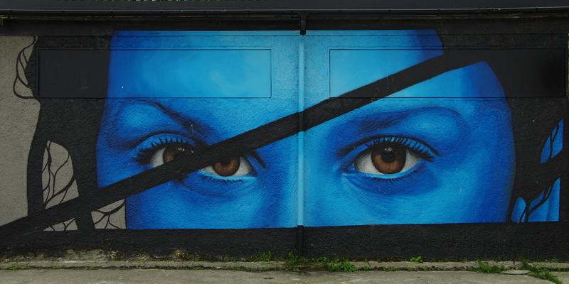 Wandmalerei in Sandnessjøen