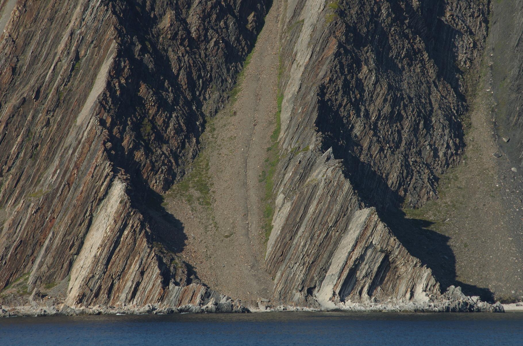 die Küste nördlich von Honningsvåg