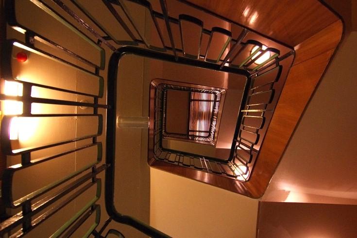 im Hurtigrutenmuseum - Treppenaufgang