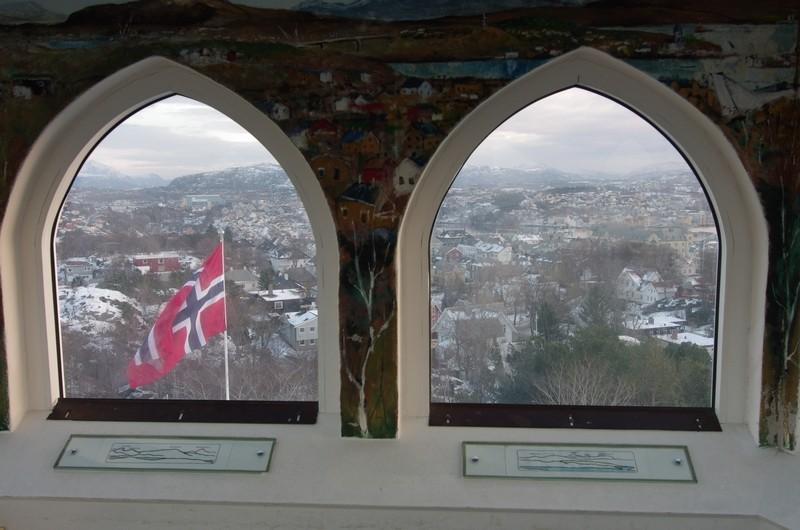 Blick vom Aussichtsturm über Kristiansund