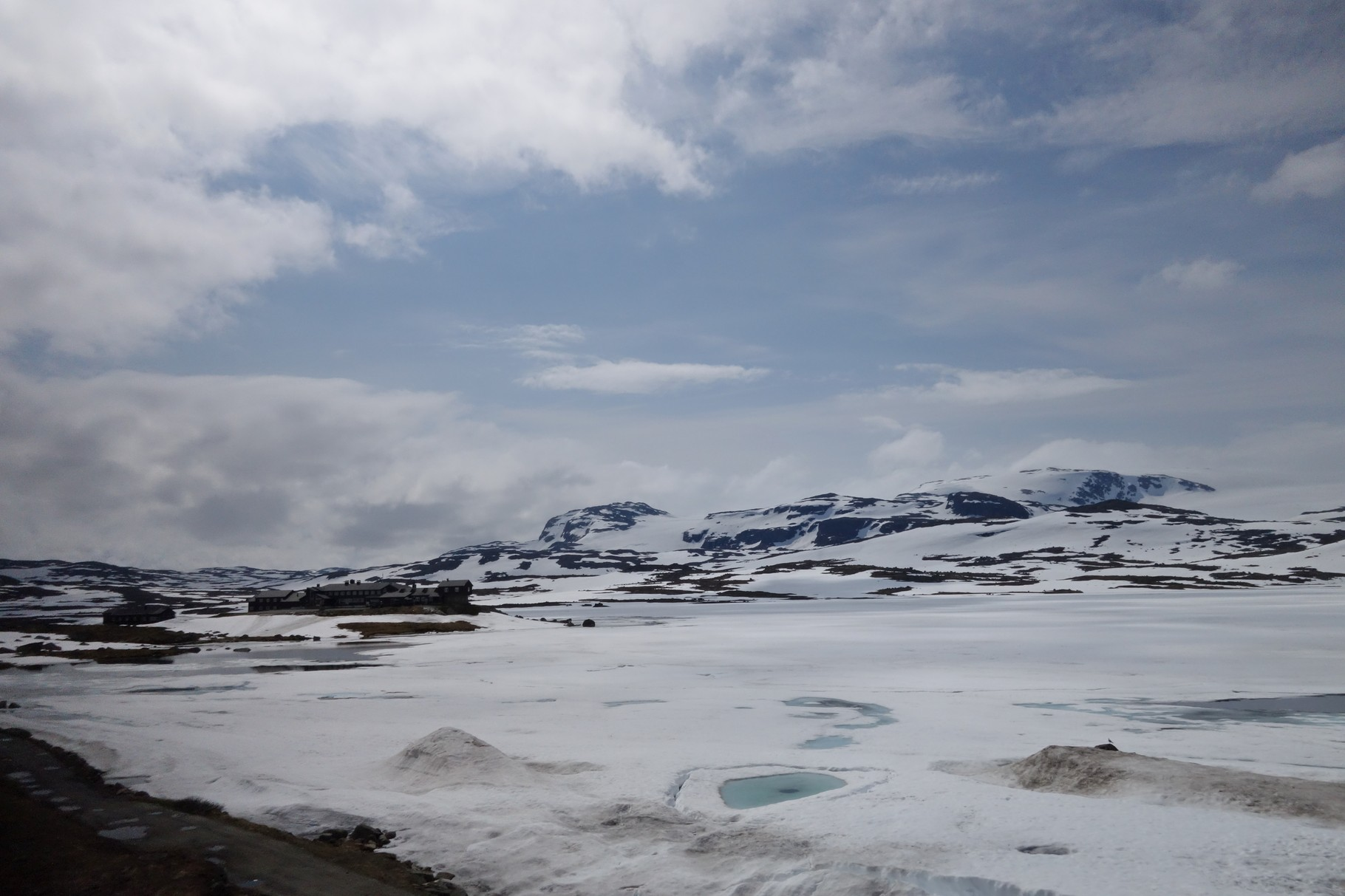 Finse, der höchste Punkt auf der Strecke 1222 m üNN