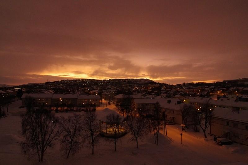 Sonnenaufgangsstimmung in Kirkenes