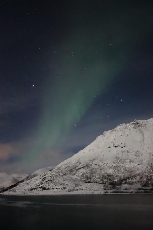 Nordlicht Nr 2 zwischen Hammerfest und Tromsø