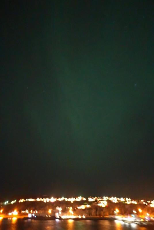 nochmal ganz leichtes Nordlicht