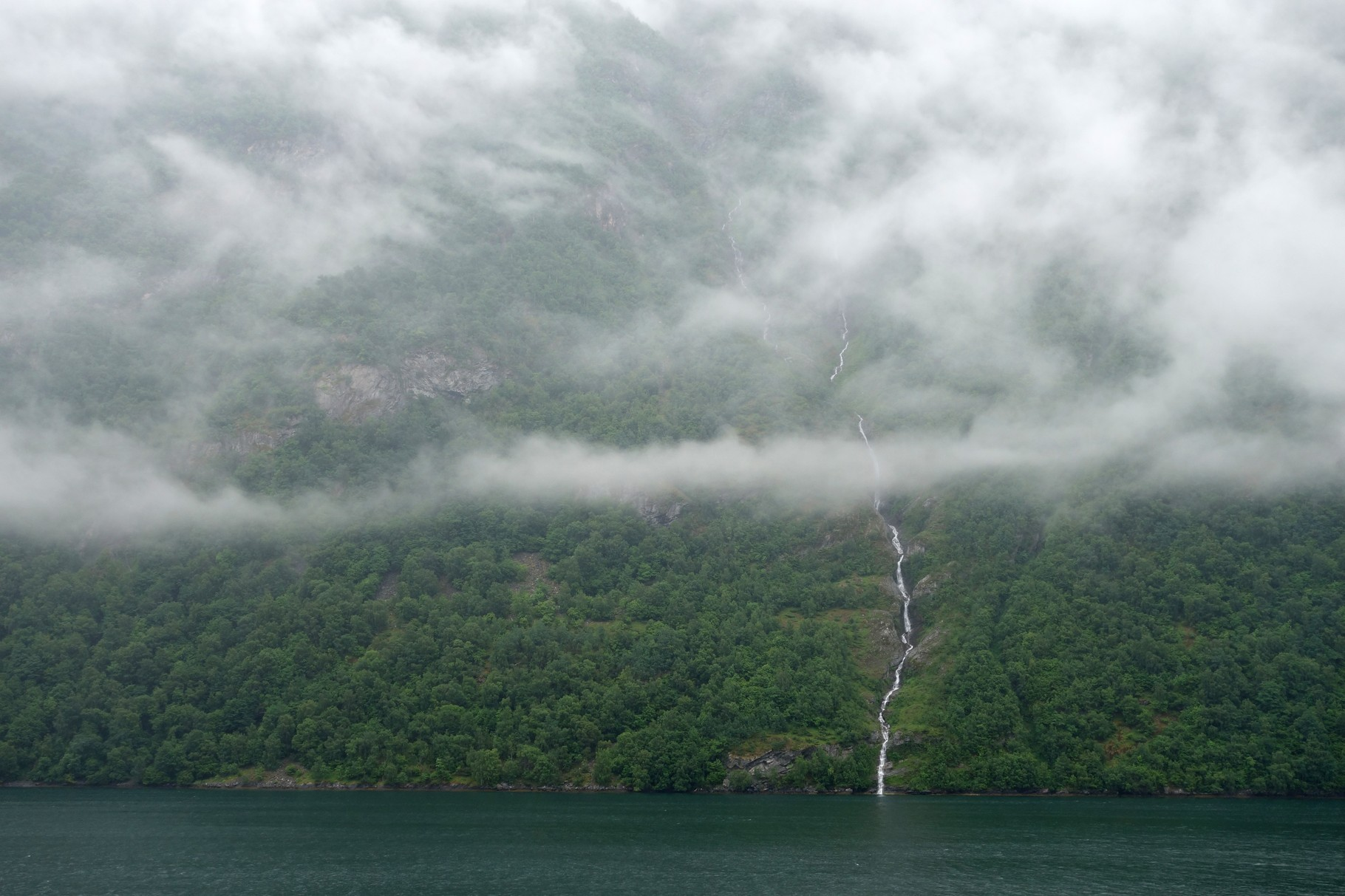 auf dem Weg in den Geirangerfjord