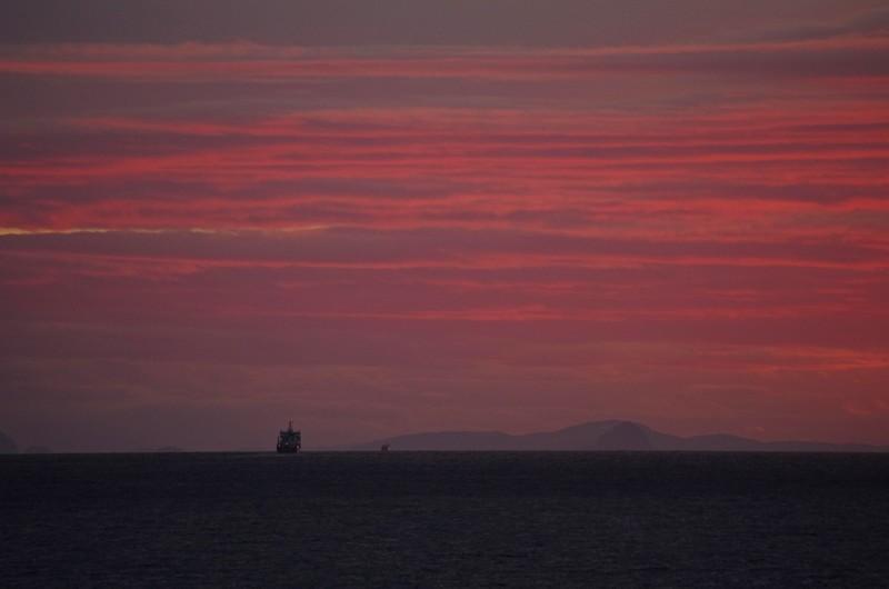 ....doch dann haben wir noch einen fantastischen Sonnenuntergang