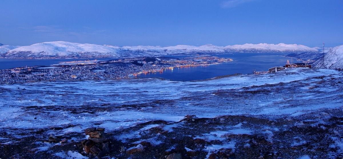 Blick auf Tromsø vom Storsteinen