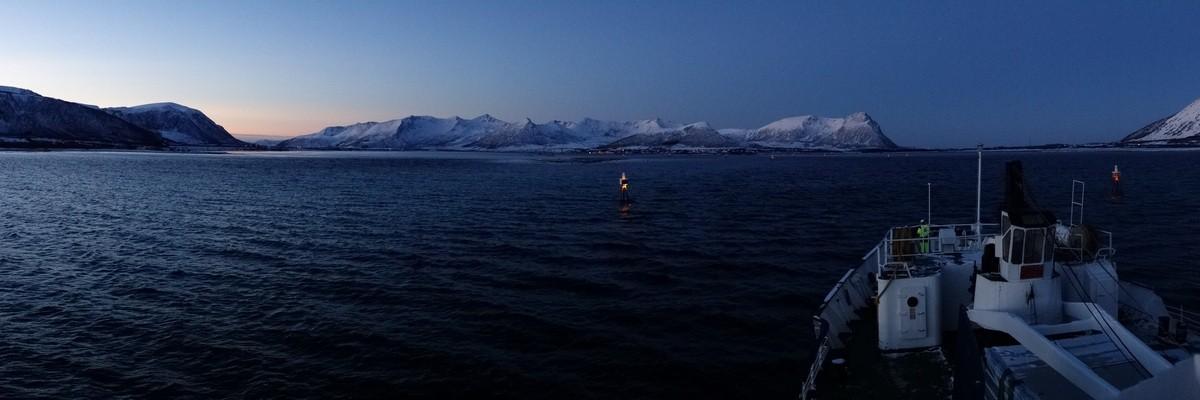 Einfahrt in die Risøyrenna