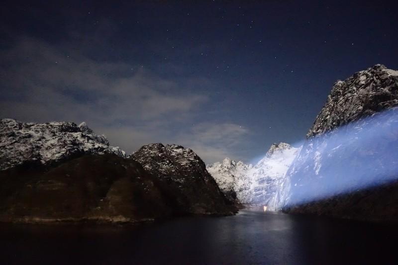 an der Einfahrt zum Trollfjord im Raftsund