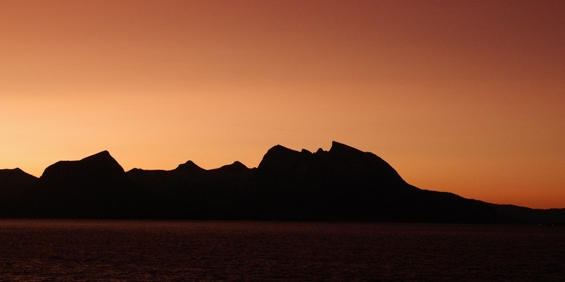 Silhouette im Morgenrot