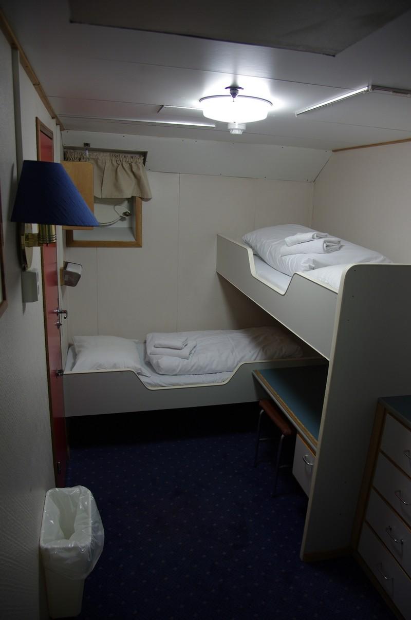 ein Kabine auf der M/S Lofoten