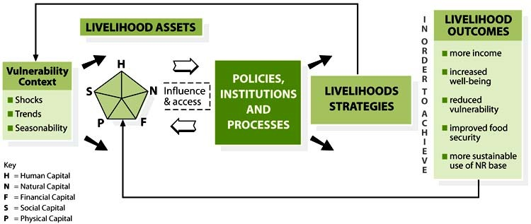 Chart 1: Sustainable Livelihoods Approach (Source: DfID)