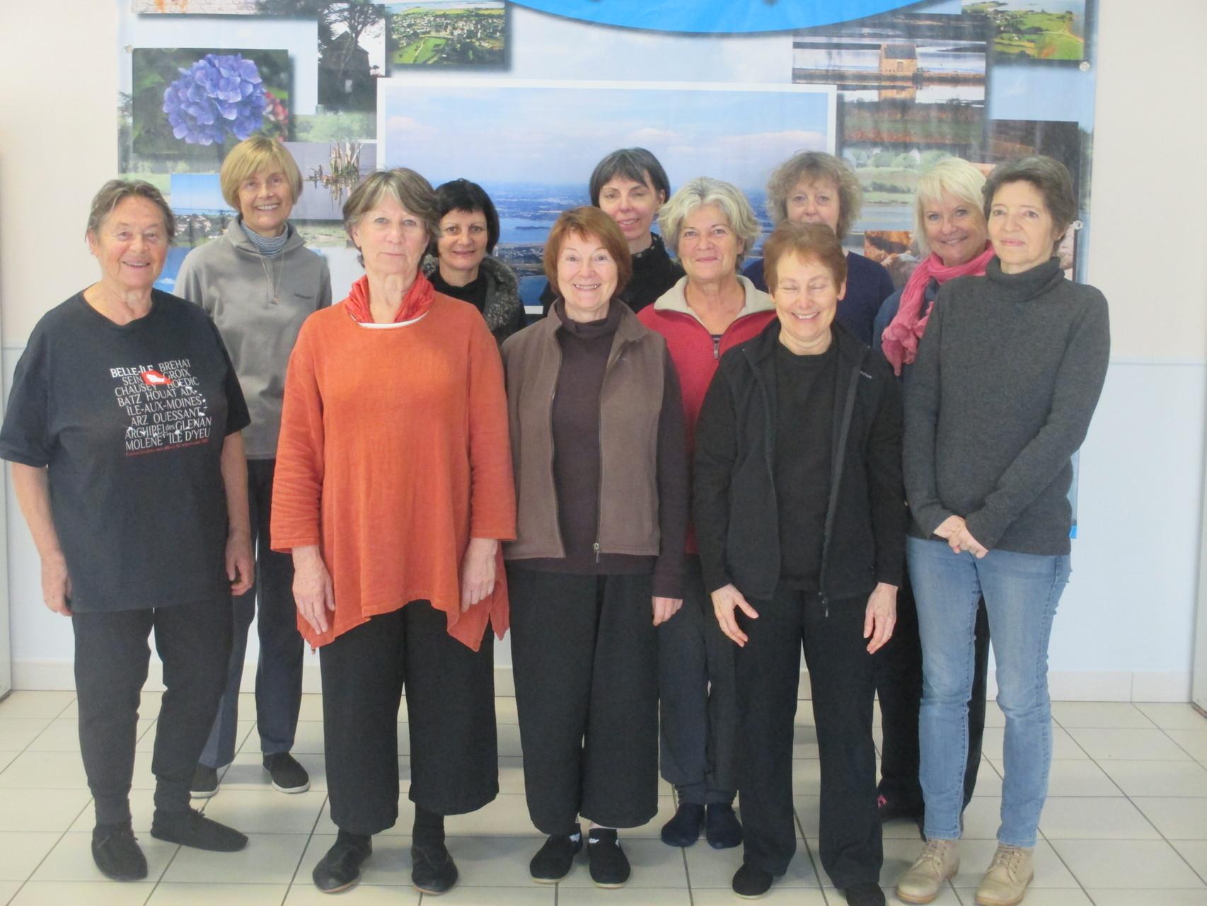 29 novembre 2015 -participantes du stage à l'île d'Arz