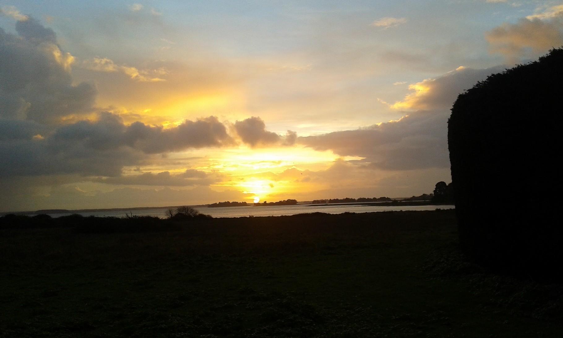 Lever de soleil à l'île d'Arz, janvier 2016