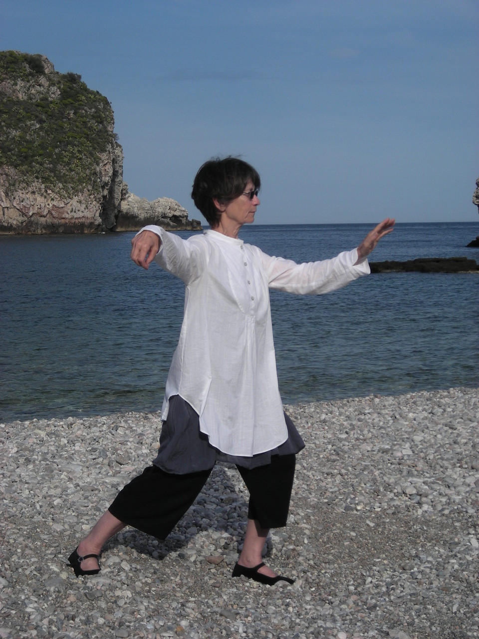 Pascale David en Sicile : pratique du Tai Ji Quan