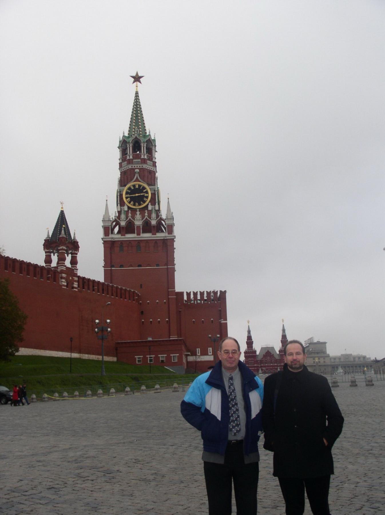 ... am Kreml mit Oleg
