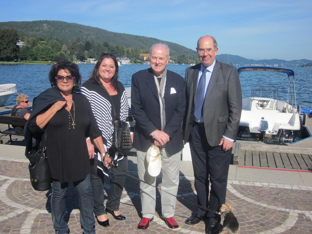 Alfred Sima und Familie in Klagenfurt