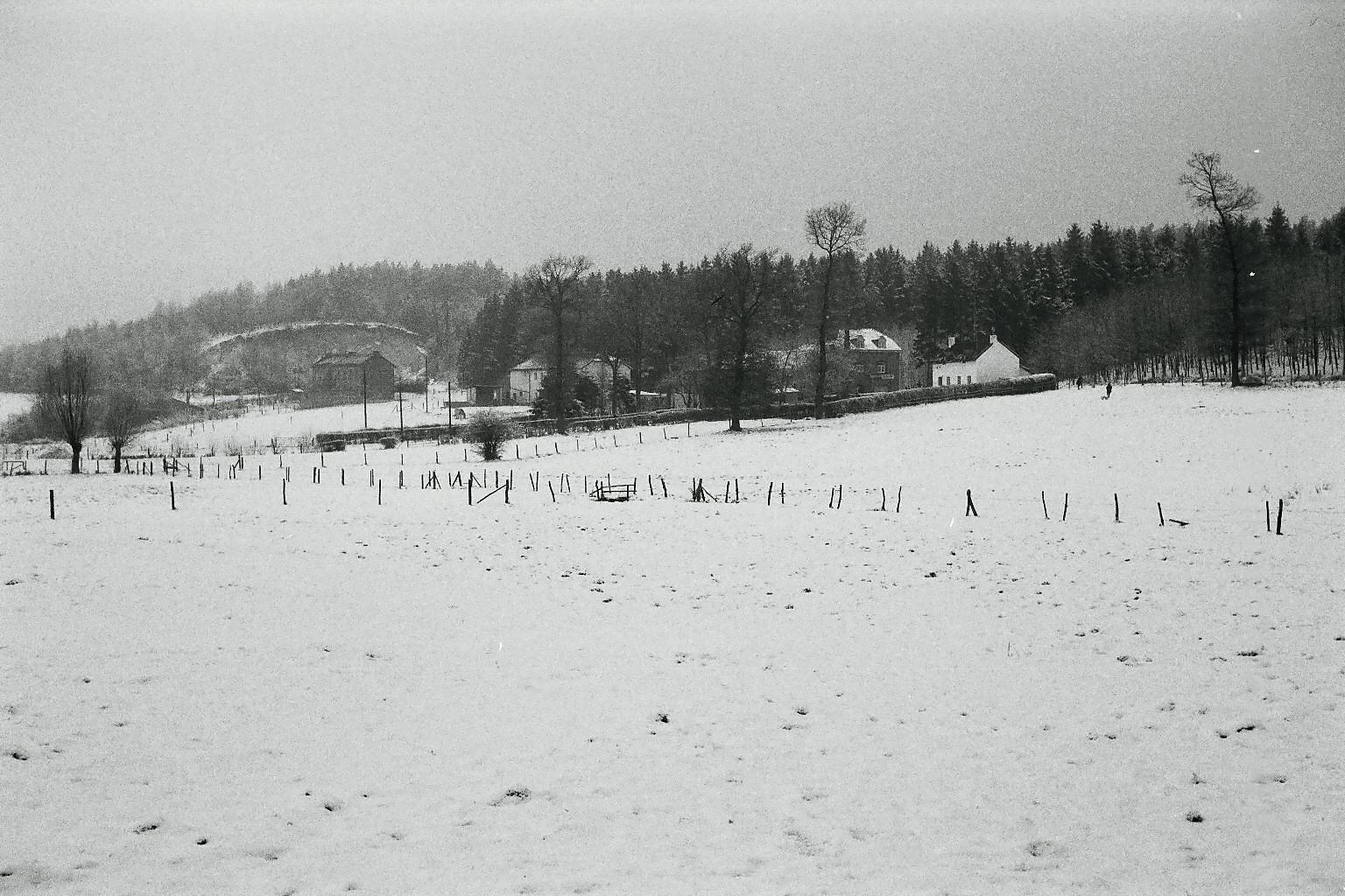Ansicht der Flög im Winter 1971