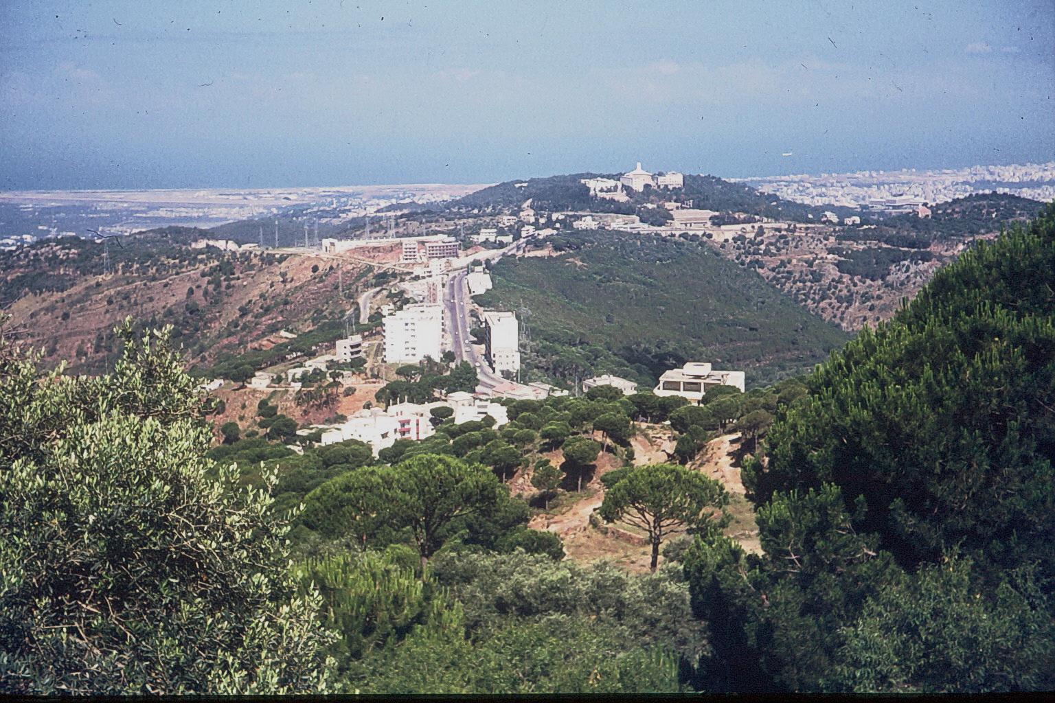 Beirut vom Gebirge aus