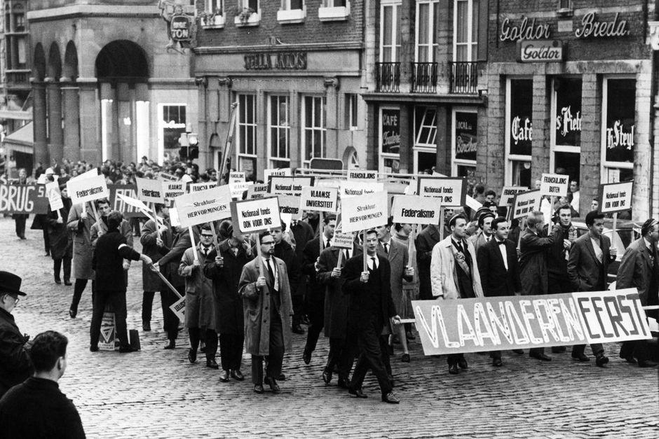 Protestmärsche in Brüssel