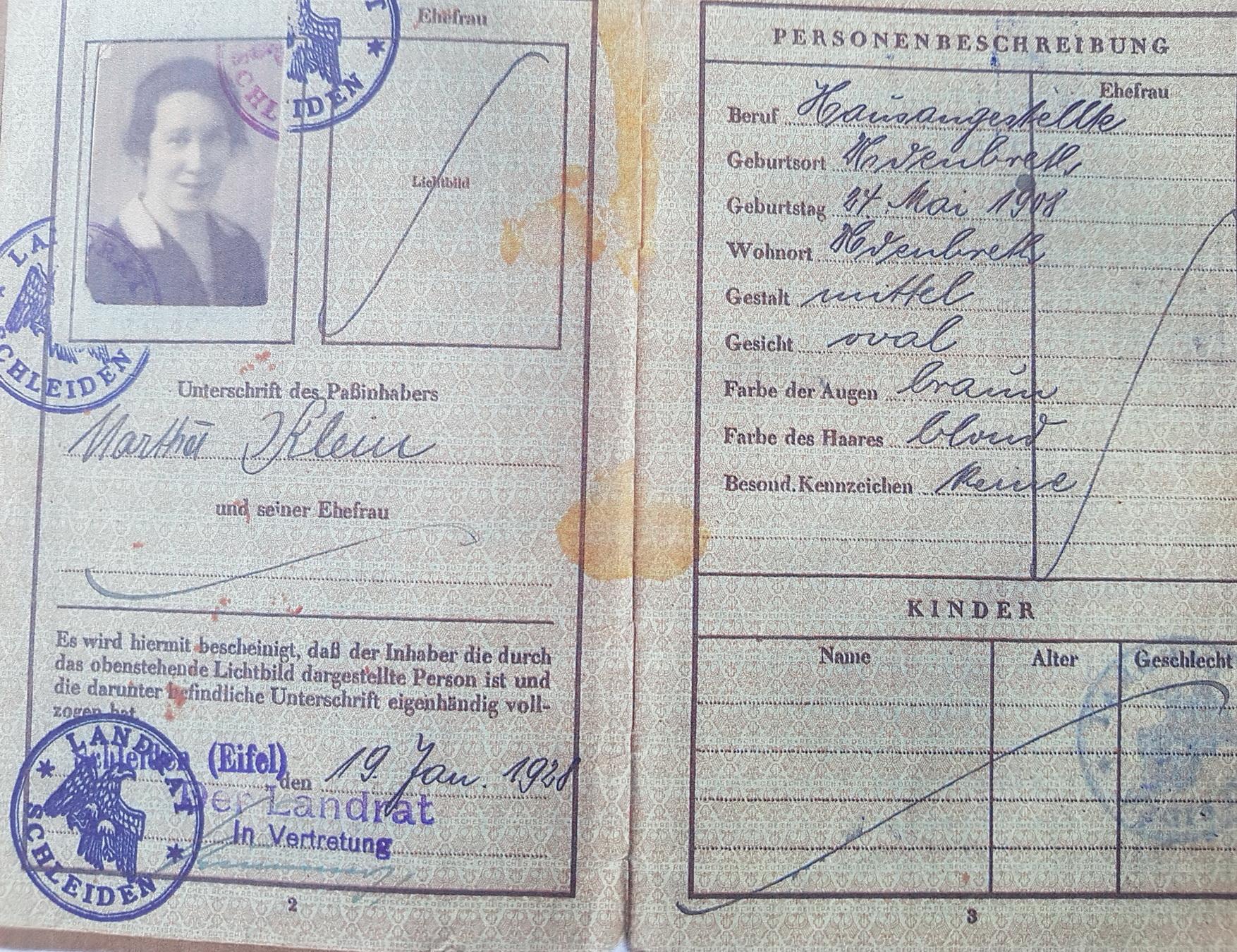 Marthas Pass 1928