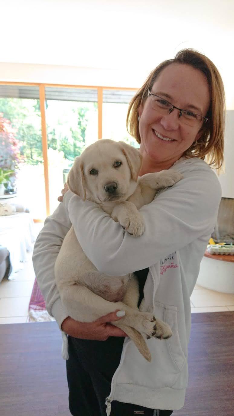 Antje mit ihrem neuen Baby Ilvy