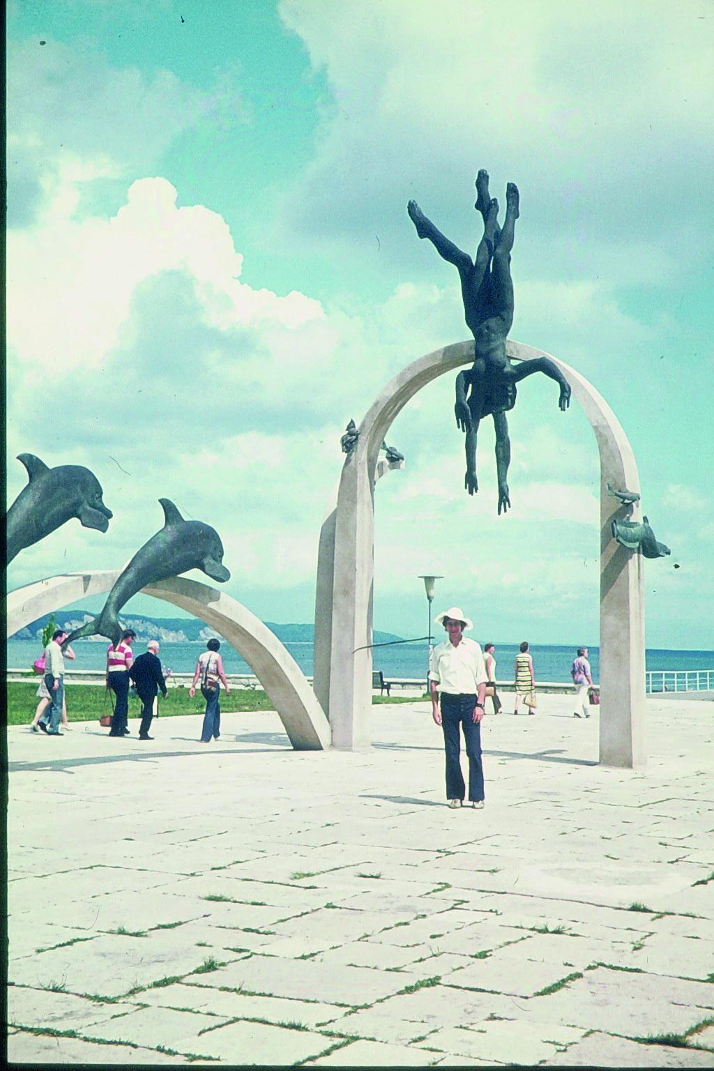 An der Strandpromenade von Suchumi 1971