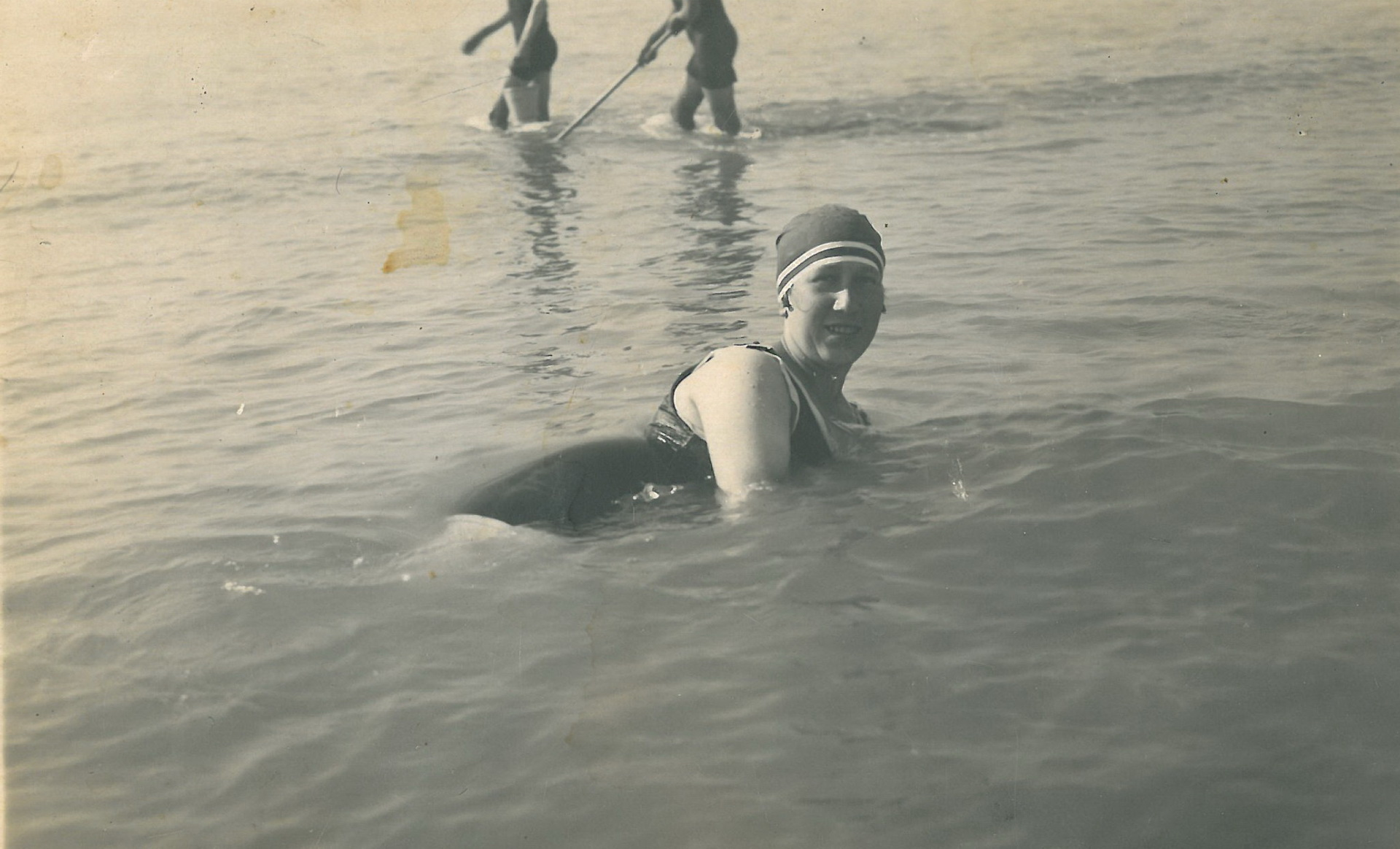 ... und beim Bad in der Nordsee 1933