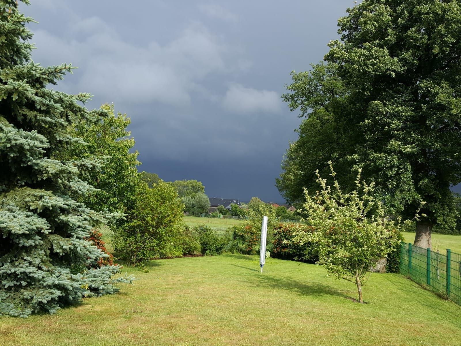 Blick auf Walheim und das Wetter