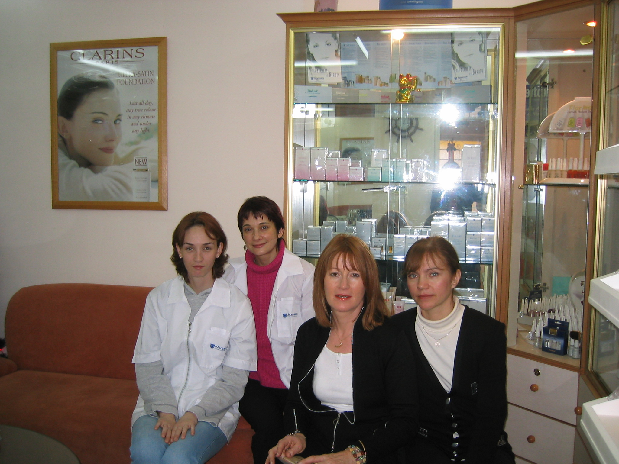 ... Klara meeting Luba in Amman 2003
