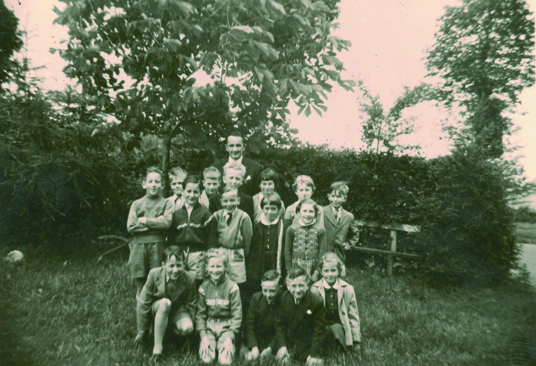 Bei Lehrer Haag in Büllingen 1956