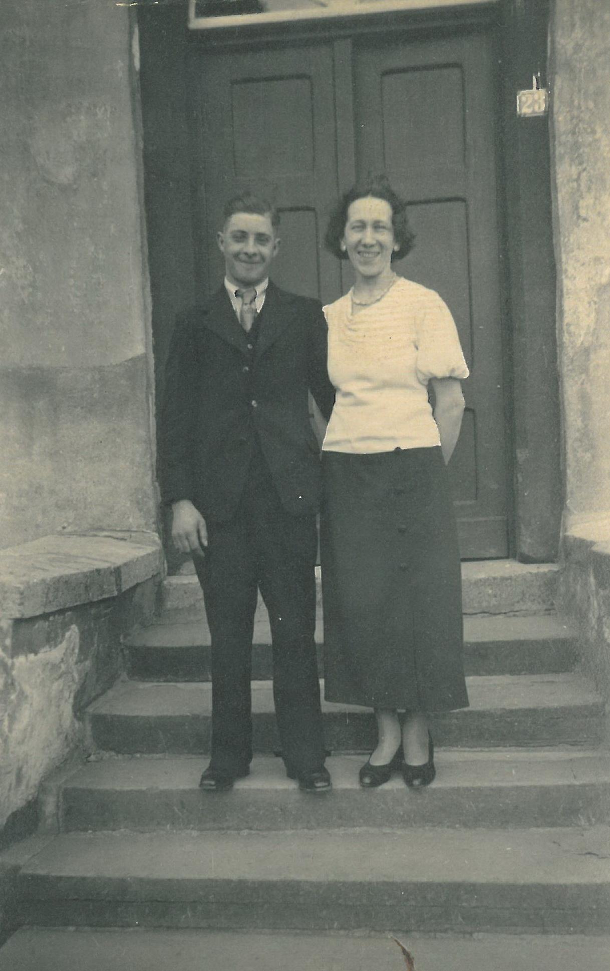 Das Brautpaar Martha und Richard