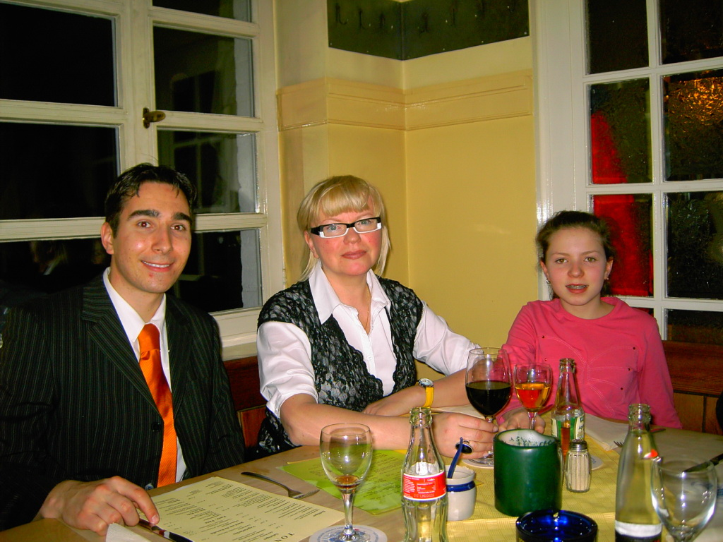 Ulrich with Tatyana and Maria