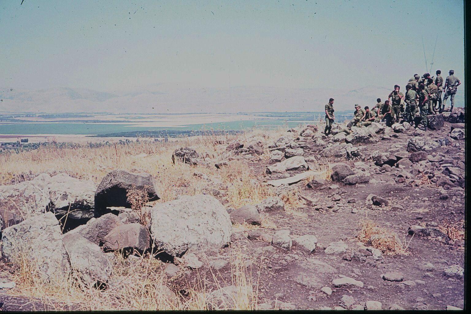 Soldaten auf den Golan Höhen