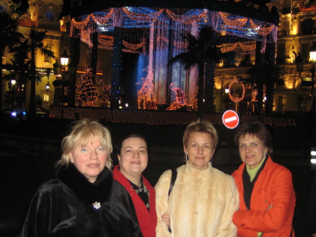 Treffen mit Lena und Tatyana in Monte Carlo