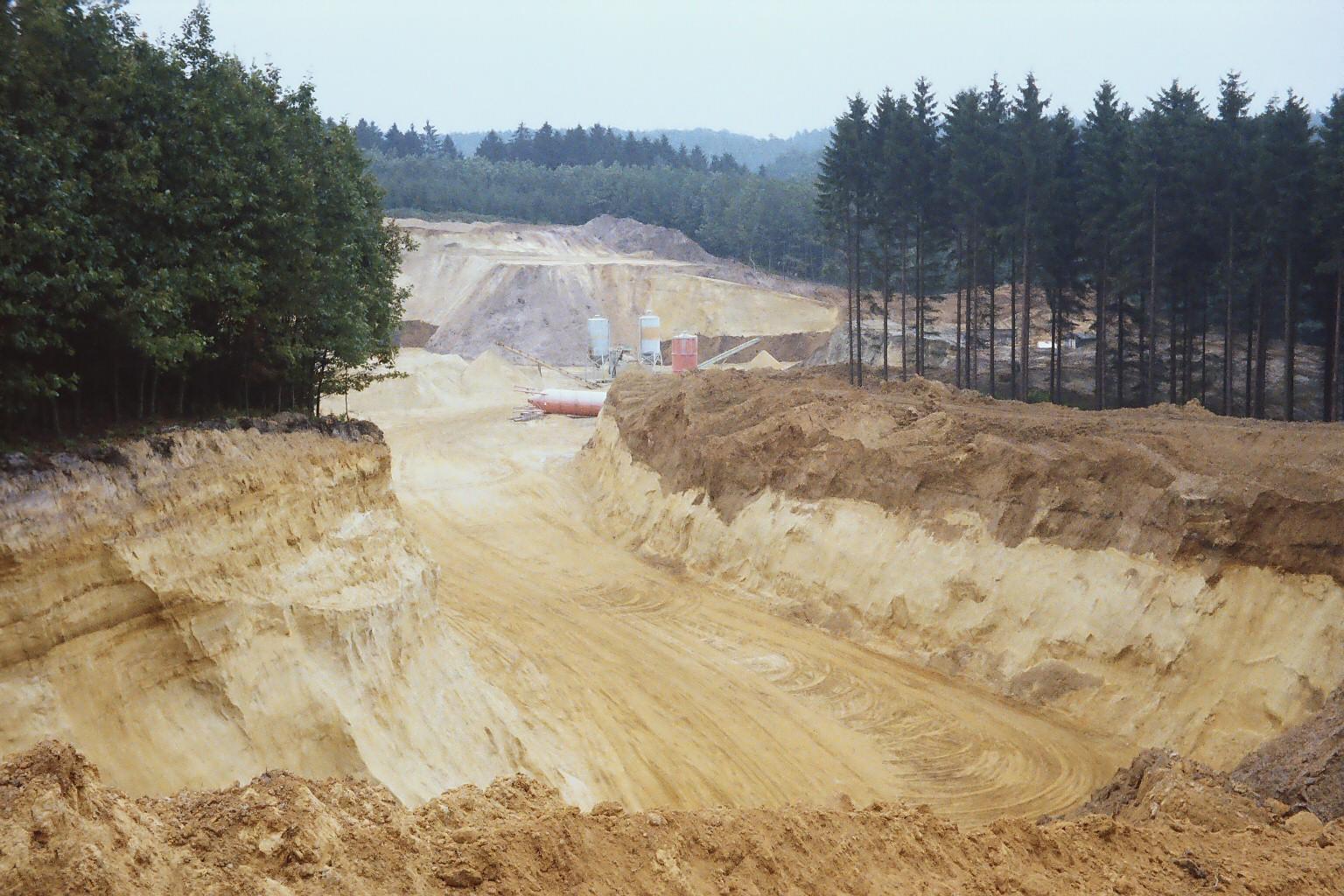 Die Ausbeutung der Sandgrube 1978